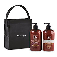 Soapbox Cleanse and Soothe Gift Set - Coconut Milk and Sandalwood - J.P. Morgan
