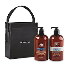 Soapbox Cleanse and Soothe Gift Set - Sea Minerals and Blue - J.P. Morgan