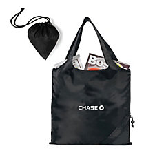 Latitudes Foldaway Polyester Shopper - 16 in. L x 15 in. H - Ships in 48 Hours - Chase