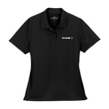 Ladies Vansport Omega Solid Mesh Tech Polo Shirt - Chase