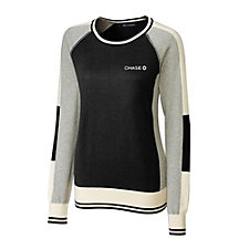 Cutter & Buck Ladies Stride Colorblock Sweater - Chase