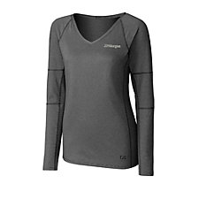 Cutter & Buck Ladies Victory V-Neck Long Sleeve T-Shirt - J.P. Morgan