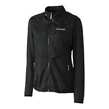Cutter & Buck Ladies Ava Hybrid Full Zip Jacket - J.P. Morgan