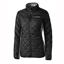 Cutter & Buck Ladies WeatherTec Sandpoint Quilted Jacket - J.P. Morgan