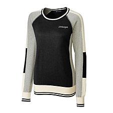 Cutter & Buck Ladies Stride Colorblock Sweater - J.P. Morgan