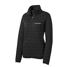 Port Authority Ladies Sweater Fleece Jacket - J.P. Morgan