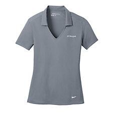 Nike Golf Ladies Dri-FIT Vertical Mesh Polo Shirt - J.P. Morgan
