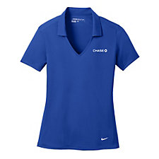 Nike Golf Ladies Dri-FIT Vertical Mesh Polo Shirt - Chase