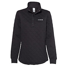 Ladies J. America Quilted Snap Pullover - Chase