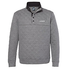 J. America Quilted Snap Pullover - Chase