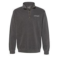 Comfort Colors Garment-Dyed Quarter Zip Sweatshirt - J.P. Morgan