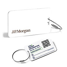 RuMe ID Luggage Tag - 3.5 in. x 2 in. - (1PC) - J.P. Morgan
