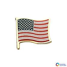 Patriotic Waving Flag Pin - (Pack of 10)