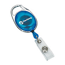 Translucent Retractable Badge Reel with Pocket Clip - Yanfeng