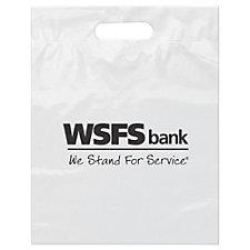 Plastic Die Cut Handle Bag - 12 in. x 15 in. - WSFS