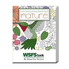 Stress Relieving Coloring Book - Nature - 8 in. x 10.5 in - WSFS
