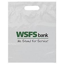 Plastic Die-Cut Handle Bag - 12 in. x 15 in. x 3 in. - WSFS