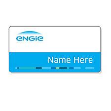 Plastic Name Badge - 1.5 in. x 3 in. - ENGIE