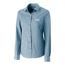 Clique Halden Ladies Stain Resistant Long Sleeve Poplin Shirt - ENGIE