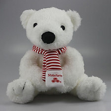 Holiday Polar Bear with Striped Scarf - 8 in.