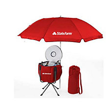 Portable Cooler with Umbrella - 6 ft.