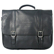 Vaqueta Leather Deluxe Laptop Briefcase