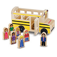 Children's School Bus Wooden Toy