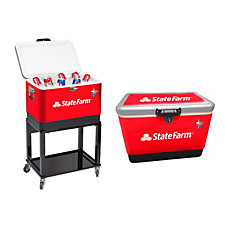 54 Quart Steel Cooler with Stand