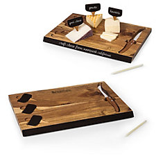Acacia Cutting Board and Cheese Tools Set