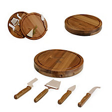 Acacia Circo Cutting Board and Cheese Tools Set