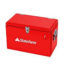 Metal Tool Box Cooler - 17.5 in. x 10 in. x 12 in.