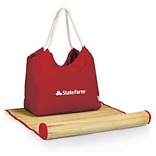 Beach Tote with Bamboo Mat - 22.75 in. x 8.5 in.