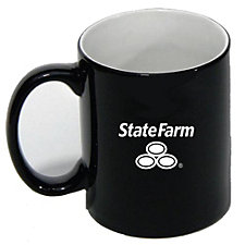 Black Ceramic Mug 12 oz.