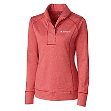 Cutter & Buck Ladies Shoreline Half Zip Pullover