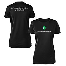 Ladies Microfiber Performance Crew T-Shirt - Wnet
