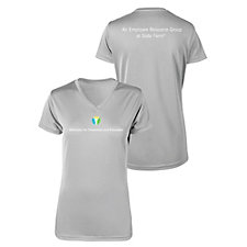 Ladies Microfiber Performance V-Neck T-Shirt - ADE