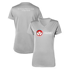 Ladies Microfiber Performance V-Neck T-Shirt - AsiaNET