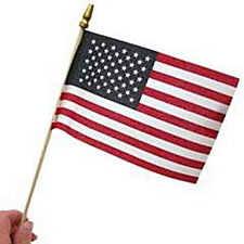 American Flag 12 Pack - 4 in. x 6 in. (1PK)