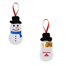 Peppermint Scented Snowman Ornament (1PC)