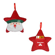 Star Shaped Santa Ornament (1PC)