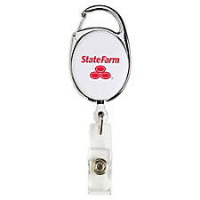 Retractable Badge Reel with Carabiner (1PC)