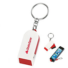 Phone Stand and Screen Cleaner Keychain (LowMin)