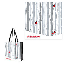 Non-Woven Value Holiday Tote - 15 in. x 15 in. x 8 in.