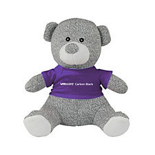 Knit Teddy Bear with T-Shirt - 8 in. - VMware Carbon Black
