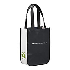 Small Laminated Non-Woven Shopper Tote Bag - VMware Carbon Black