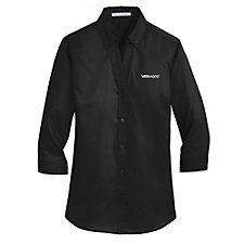Port Authority Ladies Three-Quarter Sleeve SuperPro Twill Shirt - Talent Acquisition