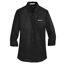 Port Authority Ladies Three-Quarter Sleeve SuperPro Twill Shirt - Talent Acquisition
