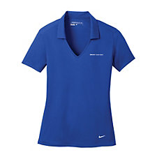 Nike Ladies Dri-FIT Vertical Mesh Polo - (1PC) - Carbon Black