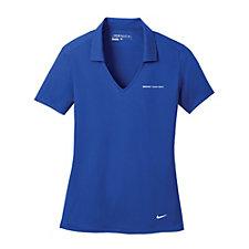 Nike Ladies Dri-FIT Vertical Mesh Polo - (1PC) - Carbon Black