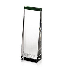 Emerald Wedge Award  - 3 in. W x 7 in. H x 1-3/8 in. D